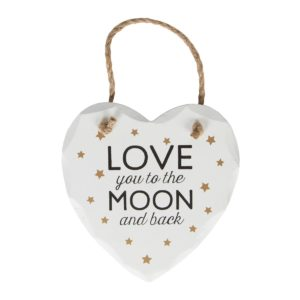 Love You To The Moon & Back Wooden Plaque 13cm