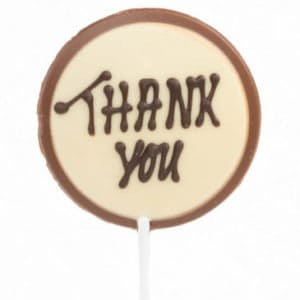 Chocolate Thank-you pop